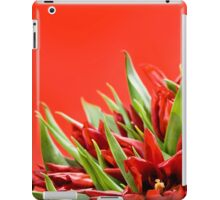 Bunch of red tulips bouquet  iPad Case/Skin