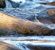 Ice Age - Water Motion Down Rocks by HELUA