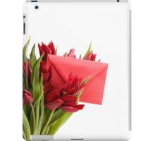 Bouquet of cut red tulips  iPad Case/Skin