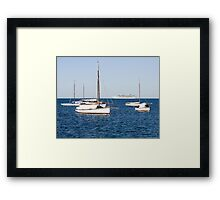 Sorrento Sailing Couta Boat Club Framed Print