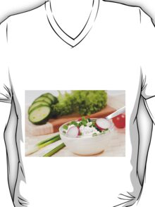 Glass bowl of cottage cheese T-Shirt