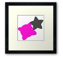 Smash Bros - Kirby Framed Print
