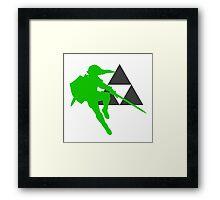 Smash Bros - Link Framed Print