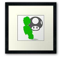 Smash Bros - Luigi Framed Print