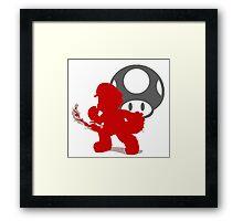 Smash Bros - Mario Framed Print