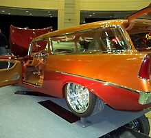 1956 ORANGE Custom Chevrolet Handyman Wagon by Diane Trummer Sullivan