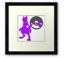 Smash Bros - Mewtwo Framed Print