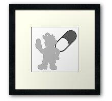 Smash Bros - Dr. Mario Framed Print