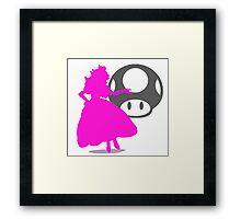 Smash Bros - Peach Framed Print