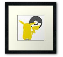 Smash Bros - Pikachu Framed Print