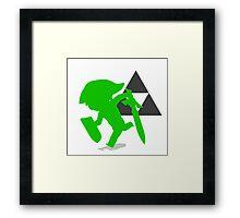 Smash Bros - Toon Link Framed Print