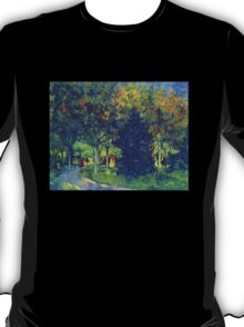 'Allee in the Park' by Vincent Van Gogh (Reproduction) T-Shirt