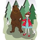 Girl with Bear by tambatoys
