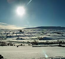 Swaledale in snow by clickinhistory