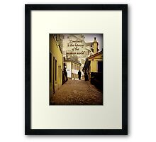 Lone Walker Framed Print