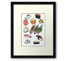 Sushi set Framed Print