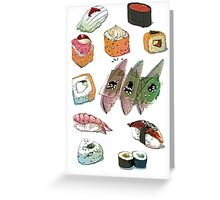 Sushi set Greeting Card