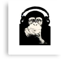 Headphones Chimp Canvas Print