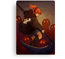 Reaper Girl Canvas Print