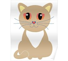 One and Only One Tan Kitty Poster