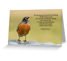 Emily Dickinson's Robin Greeting Card