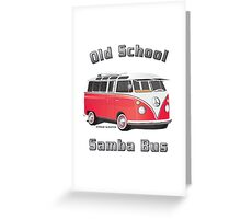 Old School Samba Bus Greeting Card