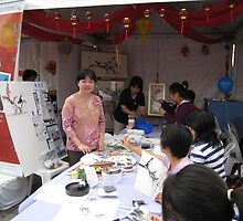 Chinese painting demo at Glen Waverley by Thanh Duong