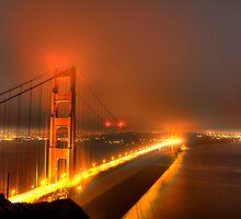 Golden Gate Bridge in the Haze by Paul J. Owen
