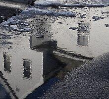 Snow Melt On Fort Hill Avenue by Doug Wilkening