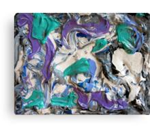 Abstract Aqua, Lavender, Gray and White Design, Contemporary Art Canvas Print