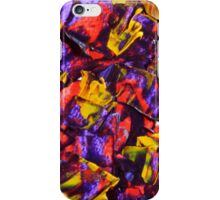 Abstract Design, Purple, Red and Gold Contemporary Art  iPhone Case/Skin