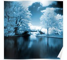 Blue Infrared Park Poster