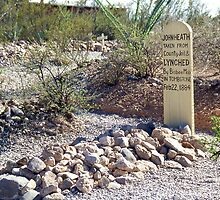 Boot Hill Tomstone. AZ. by Peter Stephenson
