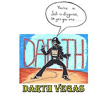 Darth Vegas Photographic Print