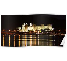 Conway Castle at night Poster