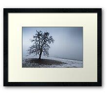 dark winter tree Framed Print