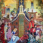 Cinderella Slipper Castle Mosaic by schermer