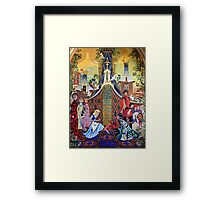 Cinderella Slipper Castle Mosaic Framed Print