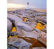 Three Golden Pools Photographic Print