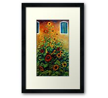 view from the garden Framed Print