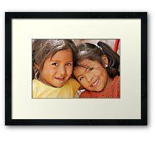 Shining Smiles Framed Print