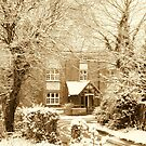 Old Winter Farmhouse by karenlynda