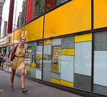 Yellow Peril on Bourke St.  Melbourne by observer11
