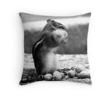Chipmunk Black&White Throw Pillow