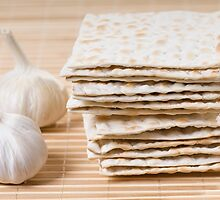 Stack of dry matza by Arletta Cwalina