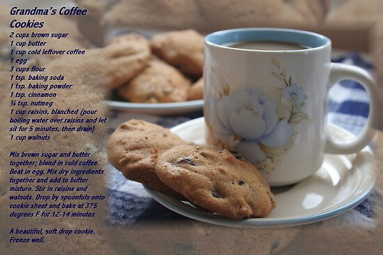 Grandma's Coffee Cookies (recipe) by Stephen Thomas