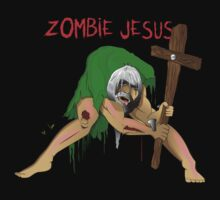 ZOMBIE JESUS T SHIRT by ANDIBLAIR