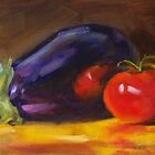 Still Life With Eggplant by rogerroberts