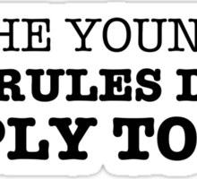The Youngest Sticker