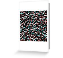 Rainy Day Pattern. Pink and blue Greeting Card